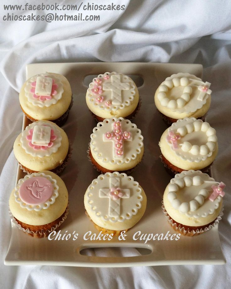 FIRST COMMUNION CUPCAKES  /  CUPCAKES PARA PRIMERA COMUNION. Follow me on www.facebook.com/chioscakes
