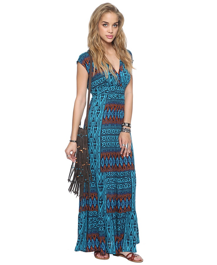 Tiered Tribal Maxi Dress   FOREVER21 - 2015035264