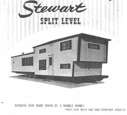 Trailer Homes: Vintage Mobile Home Series: Stewart Bi-Level Mobile Home