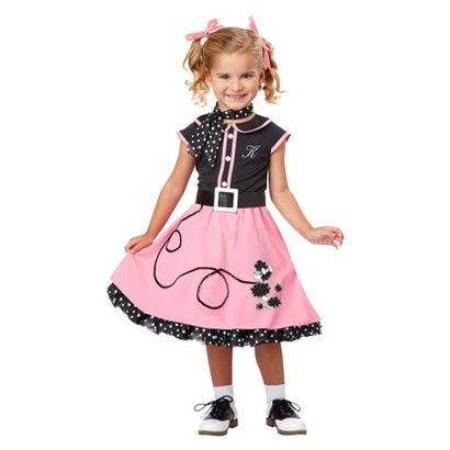 Toddler/Girl's 50's Poodle Cutie Costume