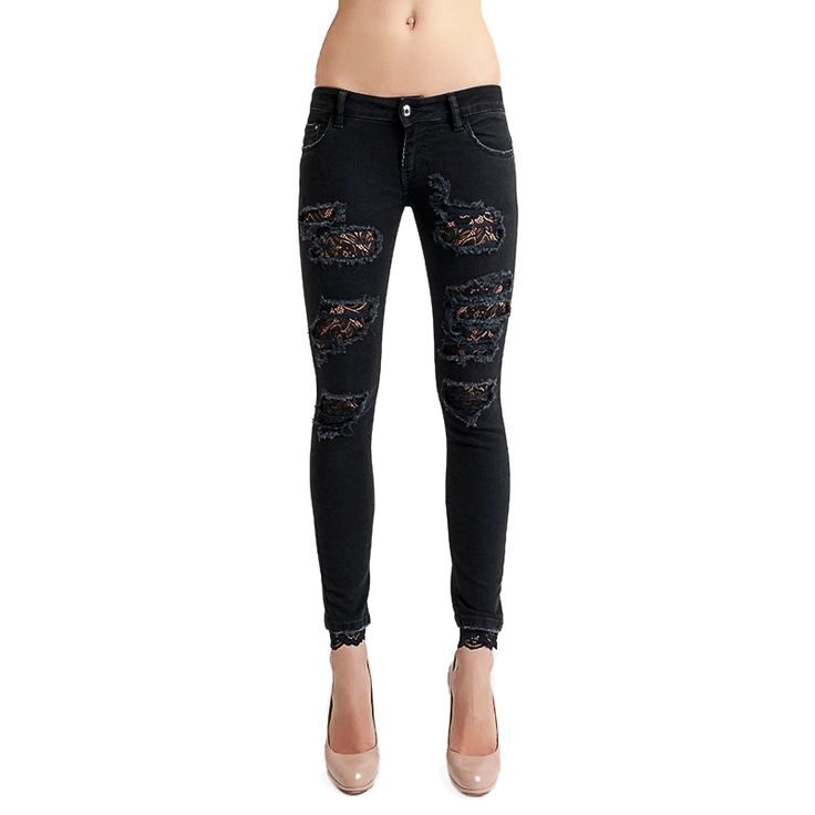 The Luxury & Fashionable Skinny Denim Jeans by Carolina Wyser are available at WWW.FINAEST.COM | #carolinawyser #finaest #denim #jeans #leggins #fashion #moda #mode #womenswear