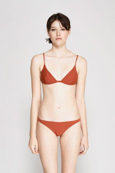 Matteau Swim   Petite Triangle Bikini Top - Amber   MYCHAMELEON.COM.AU