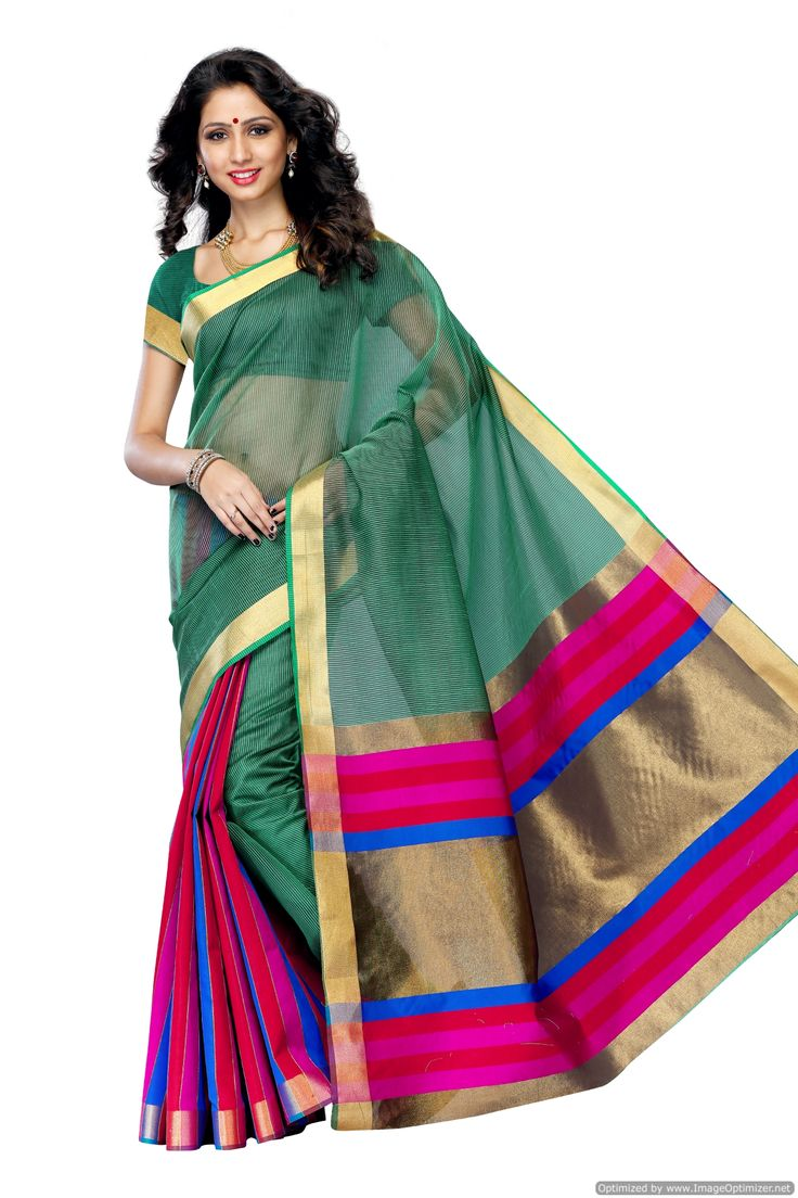 Women's Art Kanchipuram Silk Saree With Blouse,color:rani