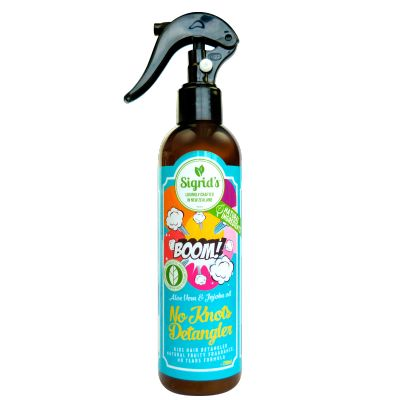 Sigrid's No Knots Sigrid's No Knots detangling spray-stop the fight and win the battle. Lock, Pop and Spritz. Lock the top, pop in your bag and spritz as needed.Perfect for after swimming, before sports or dancing. NON OILY, lockable spray top, yummy fruity scent. Apply to wet or dry hair.  Proudly certified by the Natural Products Association. See more at www.entirelynz.co.nz/skincare