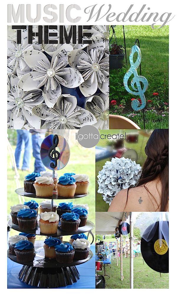 Beautiful music theme #wedding ideas and outdoor wedding. | Inspiration & Tutorials at I Gotta Create!
