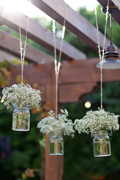 hanging gypsophelia - Lounge Area Trellis     Inspirations | Bride & Groom