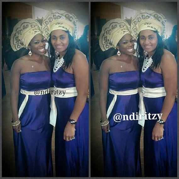 Dress Silk Purple dress Aso Ebi Dress Bridesmaid Dress by Ndiritzy