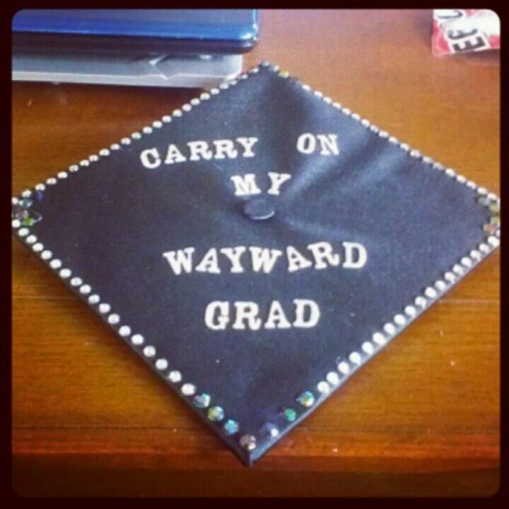 Decorated graduation cap #supernatural #diy grad cap ...