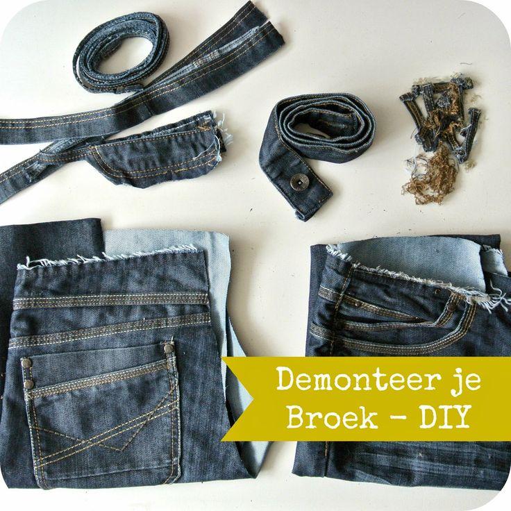 By MiekK: DIY - Demonteer je Broek voor Hergebruik