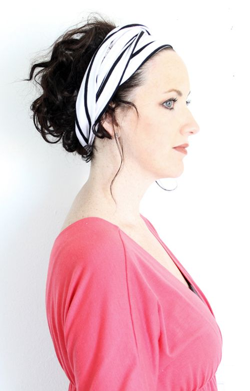 DIY headband from tshirts