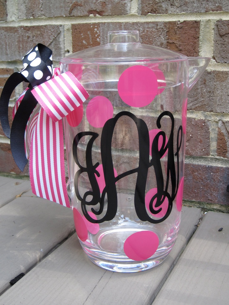 Personalized 2 Qt Acrylic Pitcher 22 00 Via Etsy