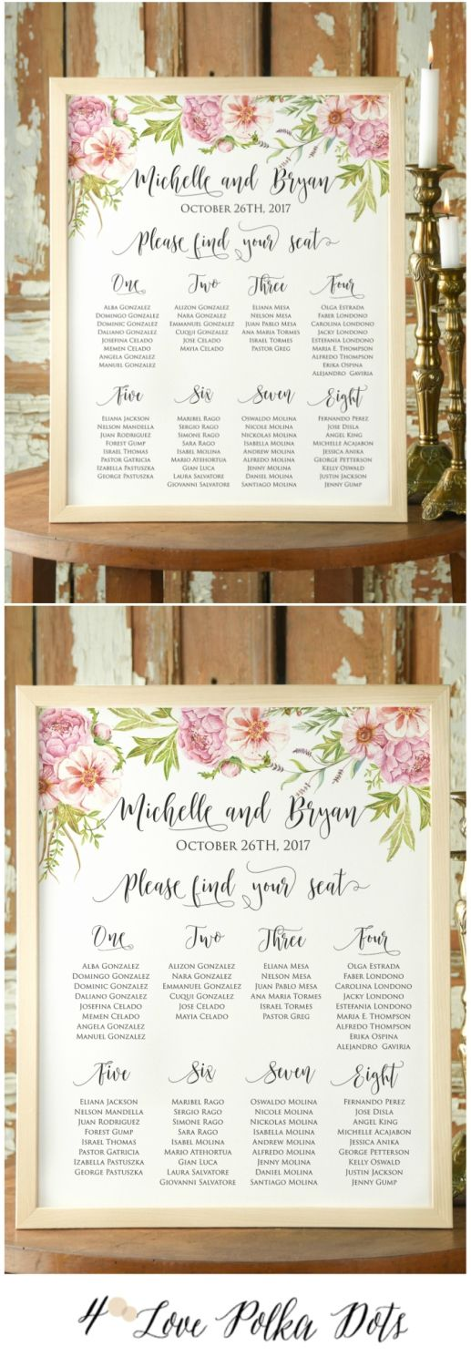 Boho Wedding Floral Table Plan #boho #bohemian #wedding #weddingideas #floral #flowers #weddings #calligraphy #rustic #colorful #botanical