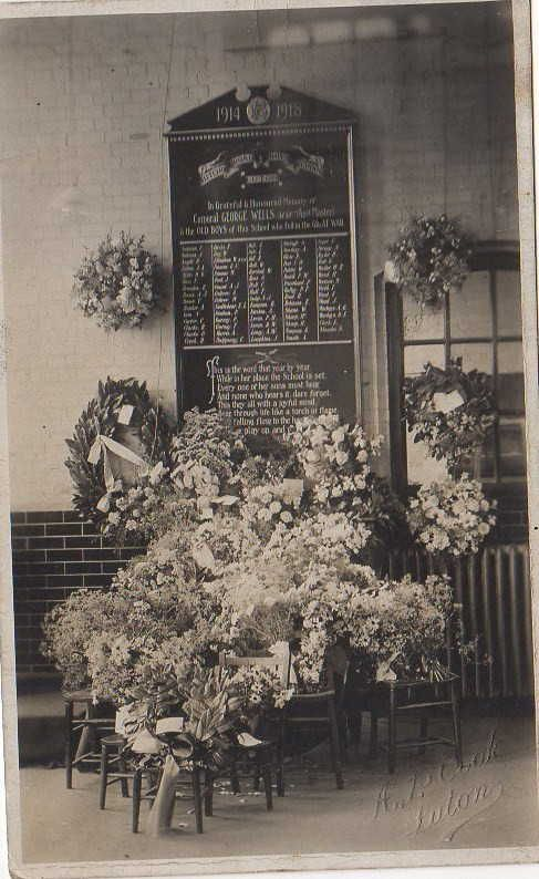 St Matthews School Memorial Plaque 1918