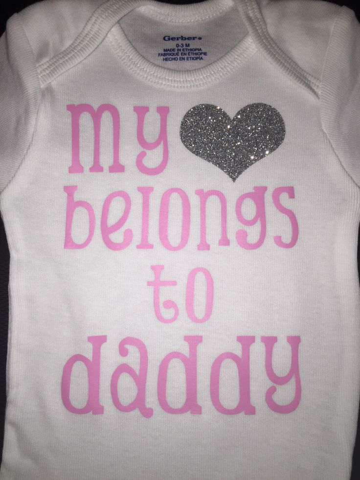 The 28 best custom shirts and onesies images on pinterest decal items similar to my heart belongs to daddy onesie on etsy negle Image collections