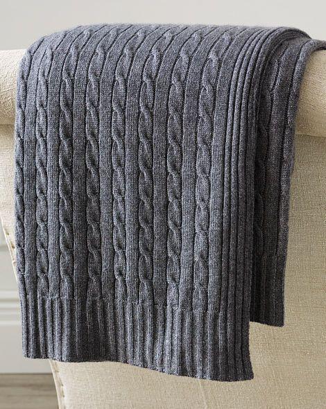 Cabled Cashmere Throw Blanket - Ralph Lauren Home Throws & Blankets - RalphLauren.com
