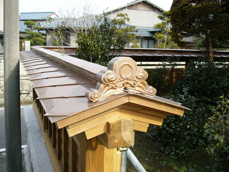 MORIKUNI roof decoration  is used on fences of traditional Japanese house to protect the from bad luck.