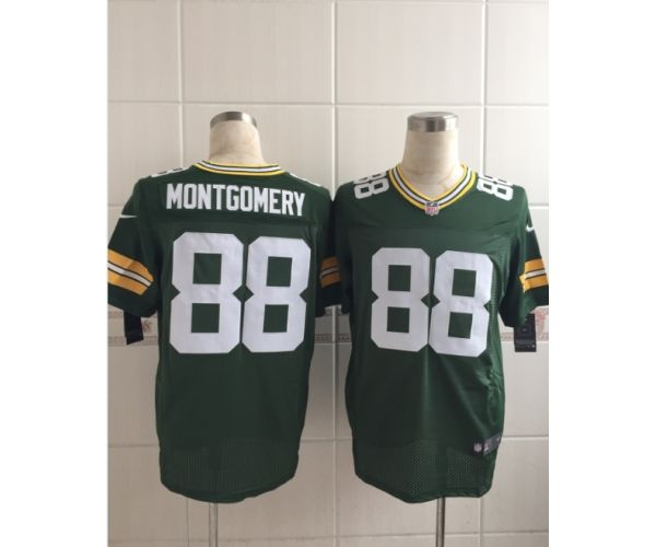 Nice Green Bay Packers 88 Montgomery Green New 2015 Nike Elite Jersey  for sale