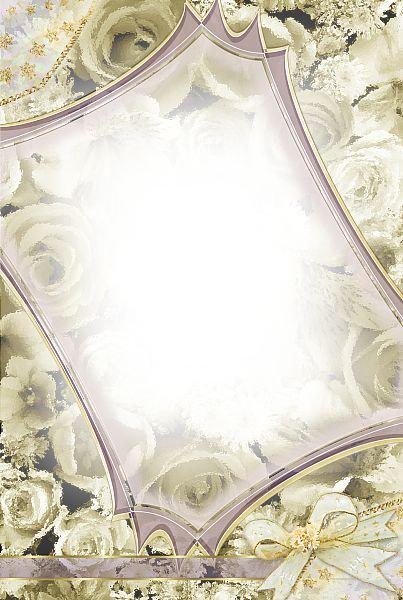 Transparent Gold Roses Frame