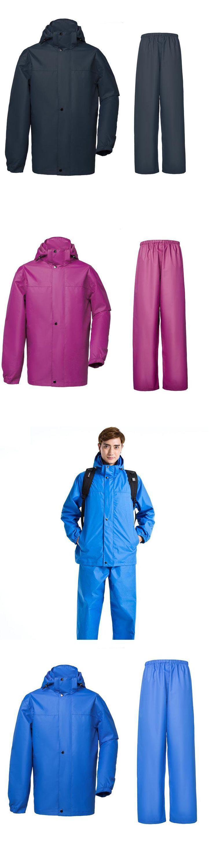Yuding Oxford Raincoat Rain Pants Heavy Rain Gear Waterproof Motorcycle Bicycle Rain Jacket Suit Fishing Raincoat