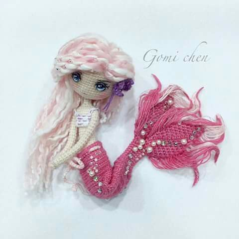❤️❤️ I so love this pink mermaid. Great inspiration. A great example of what you can make with Amigurumi. ❤️❤️