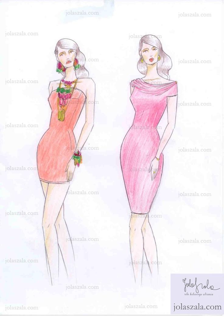 """- Nie zakładaj wieczorowej sukienki bez ramion. Będziesz wyglądała pretensjonalnie i nieelegancko. - Nie obwieszaj się nadmiernie biżuterią. Pamiętaj: """"mniej"""" znaczy """"więcej"""".- Klasyczna sukienka z fantazyjnym dekoltem zawsze wygląda stosownie i elegancko. - Dyskretna biżuteria podkreśla charakter stroju (patrz: kolczyki, bransoletka i pierścionek). - Sukienka powinna podkreślać atrybuty sylwetki i zasłaniać niedoskonałości: nogi, ręce, dekolt, talia, biodra. on Jola Szala - Siła kobiecego…"""