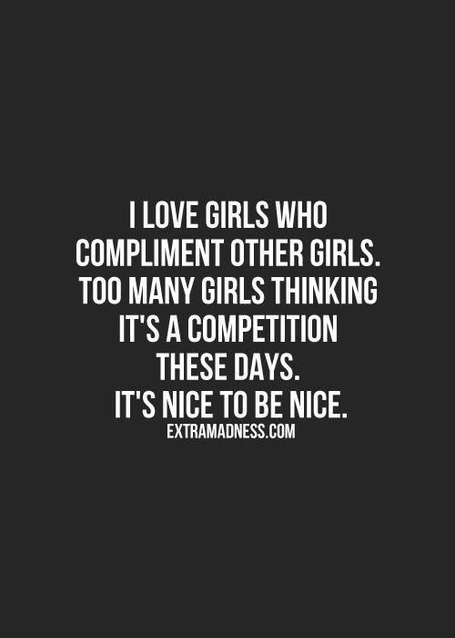 Dating girl who never compliments