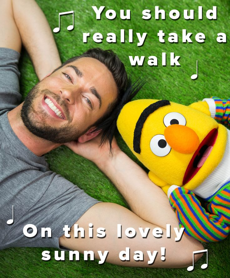 Zachary Levi and Sesame Street's Bert know that a day in the park doesn't need a filter.