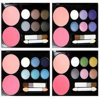 2014 Nuevo maquillaje de la marca maquiagem 9.9 ! maycheer bicolor rubor placa sombra 6 ojos desnudos caja de maquillaje cosméticos paleta de sombra de ojos