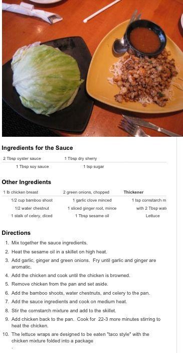 California pizza kitchen lettuce wraps recipe