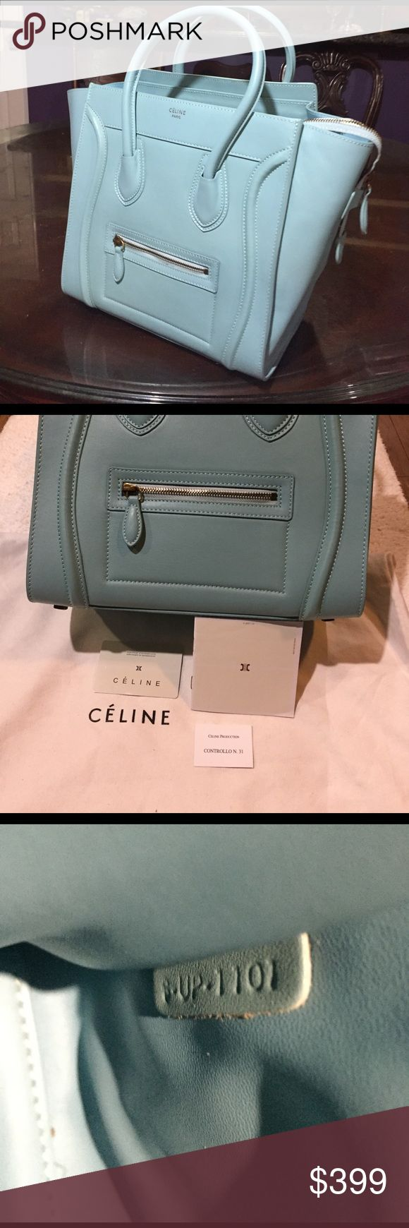 Celine  bag Worn few , come with dust bag , and card ,really gorgeous and nine color bag , not sure the exactly size , but this is large, please consider the price before ask questions or purchase thanks for understanding, Bags Shoulder Bags
