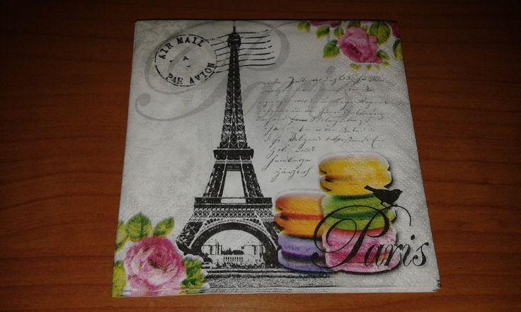 4 Tovaglioli carta decoupage Paris Tour Eiffel di DanidecoupageStore su Etsy