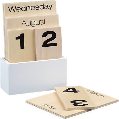 Shuffle Calendar by CB2