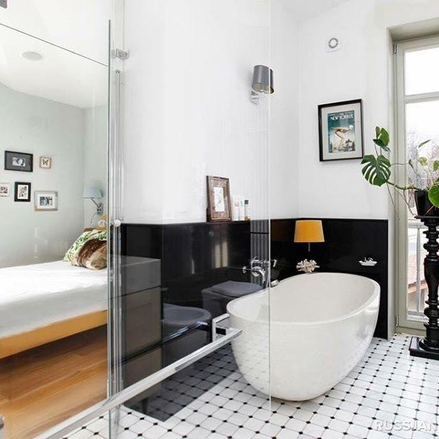 DUNIN B&W Octagon by Marta Sikorska ⬛️▫️⬛️▫️⬛️▫️⬛️ 👌    #dunin #luxury #minimalist #architect #martasikorska #elegant #tile #bathroom #bedroom #perfect #white #black #blackandwhite #b&w #octagon #floor #mirror #modern #loveit #style