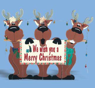 reindeerYard Signs, Woodcraft Pattern, Reindeer Trio, Wood Pattern, Holiday Signs, Yards Signs, Signs Woodcraft, Pattern Reindeer, Trio Yards