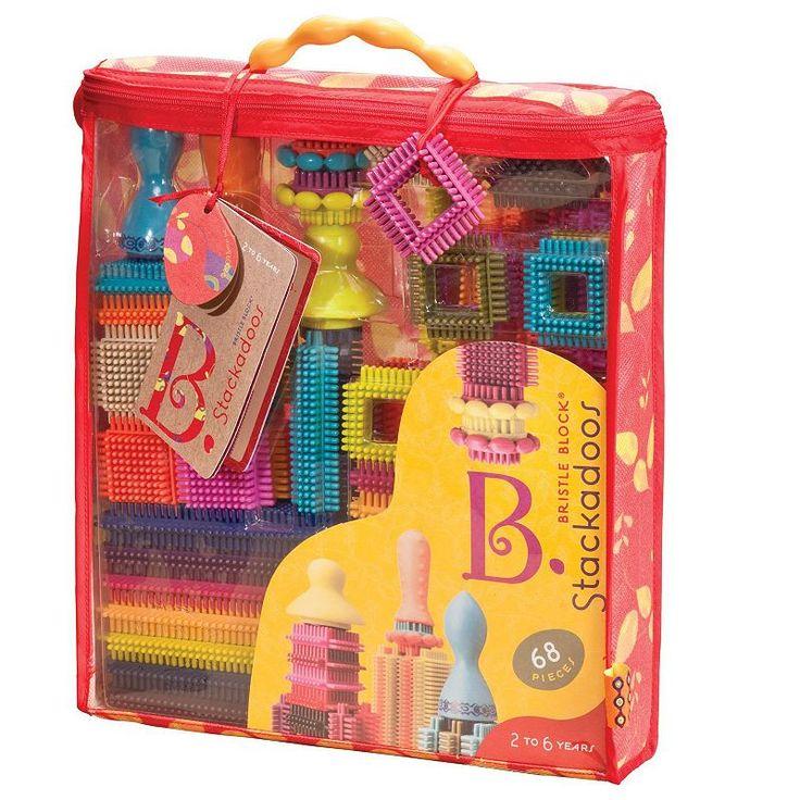Battat 68-pc. B. Stackadoos Bristle Blocks Set, Multicolor
