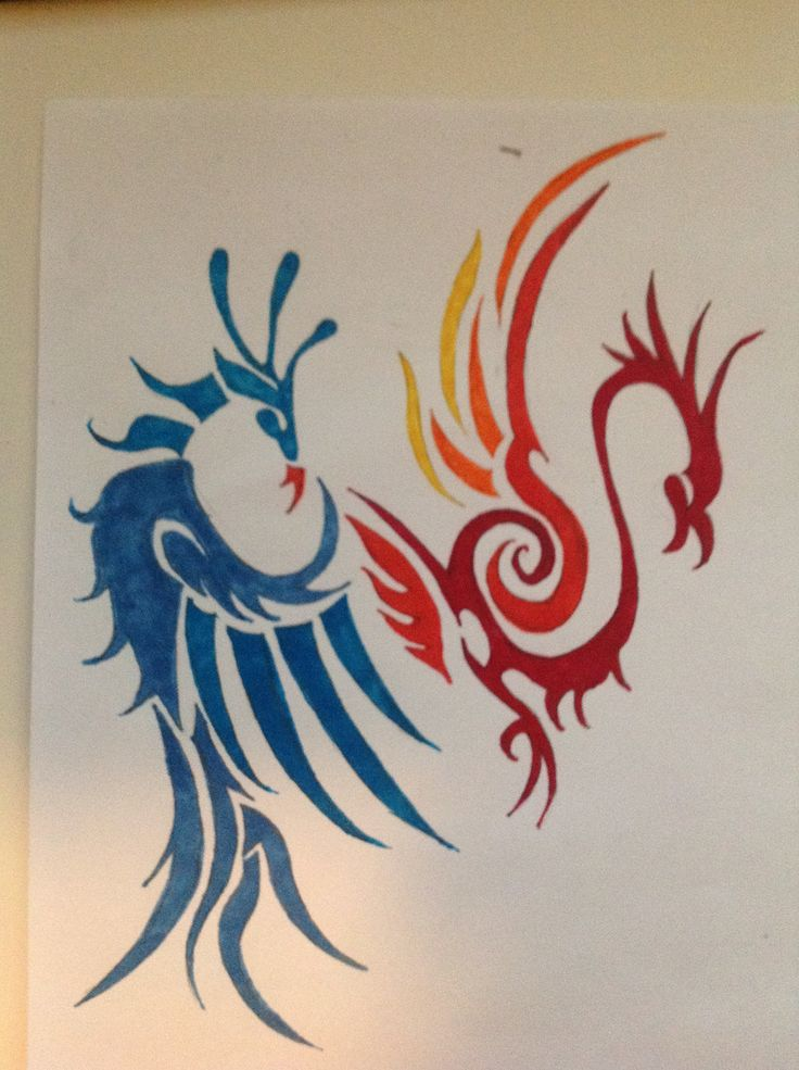Tribal bird tattoos by darkgazer622 on DeviantArt