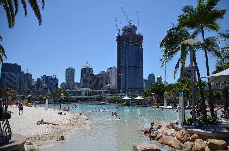 Homokos Strand Brisbane belvárosában