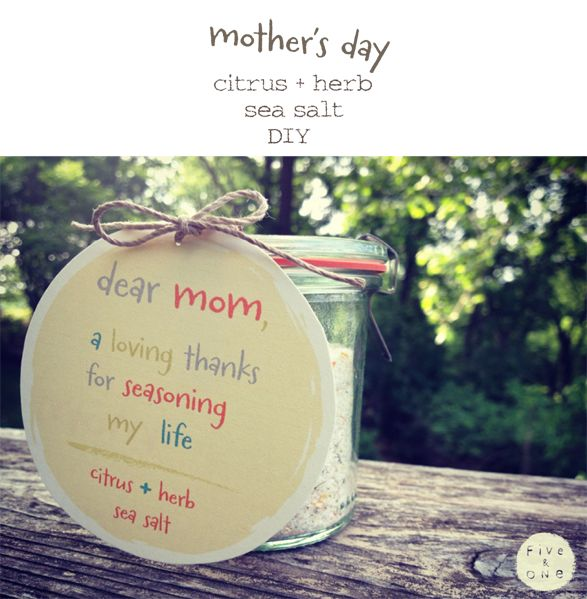NOURISH + CREATE …. citrus + herb sea salt for mother's day by five and one | Five and One