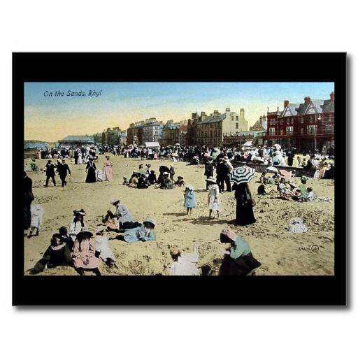 Old Postcard - On The Sands, Rhyl