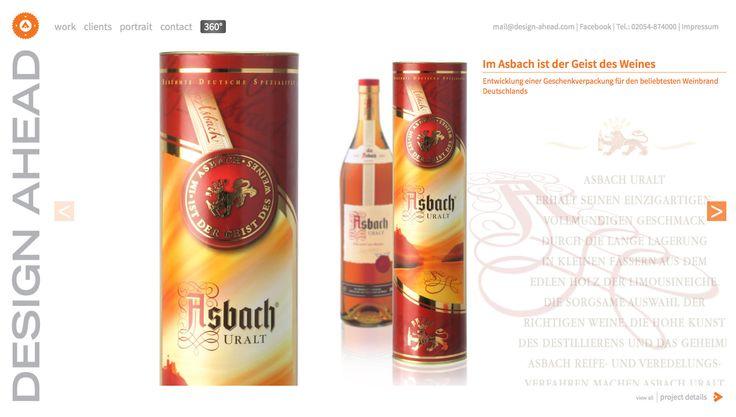 Packaging Design Asbach Uralt Geschenkverpackung