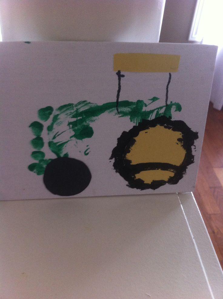 John Deere footprint - perfect machine or farm day craft