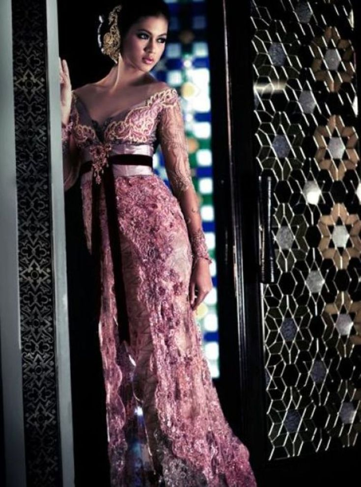 contemporary kebaya | Baby Pink Modern Wedding Dress Kebaya