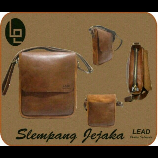 Be classy, simple and vintage with Slempang Jejaka Bag by Lead-Buatan Indonesia IDR 385K #leatherbag
