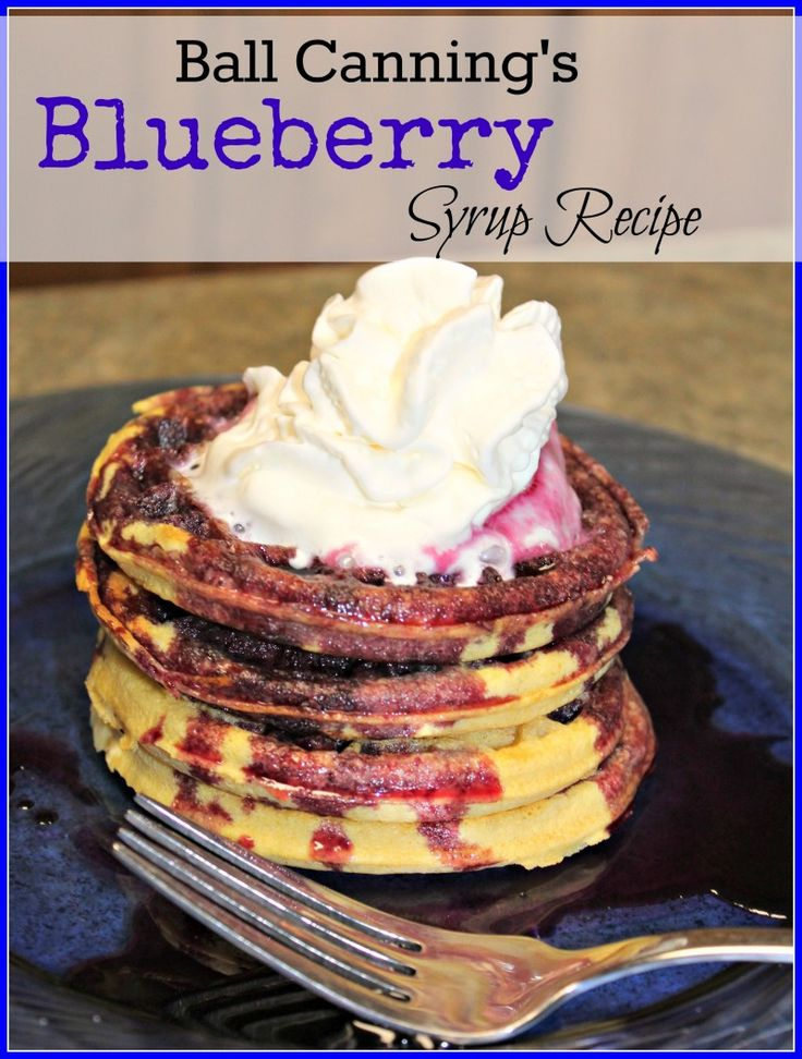 Blueberry Syrup Recipe. The perfect fruity topping for waffles, pancakes and desserts!
