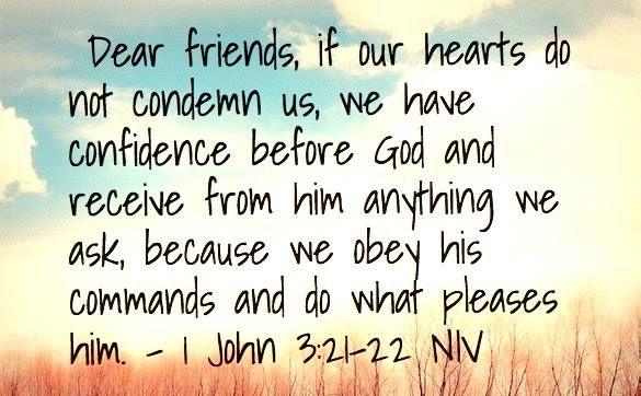 Image result for 1 John 3:21-22