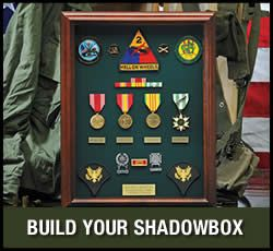 Great website for veterans needing medal replacements, display cases, flags, dog tags