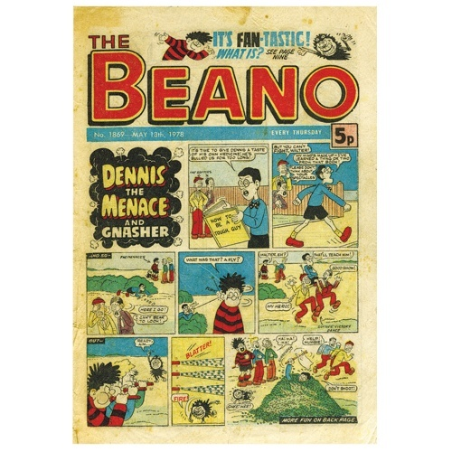 This vinatge re-print of the old Beano Comics is perfect fathers day wrapping paper!