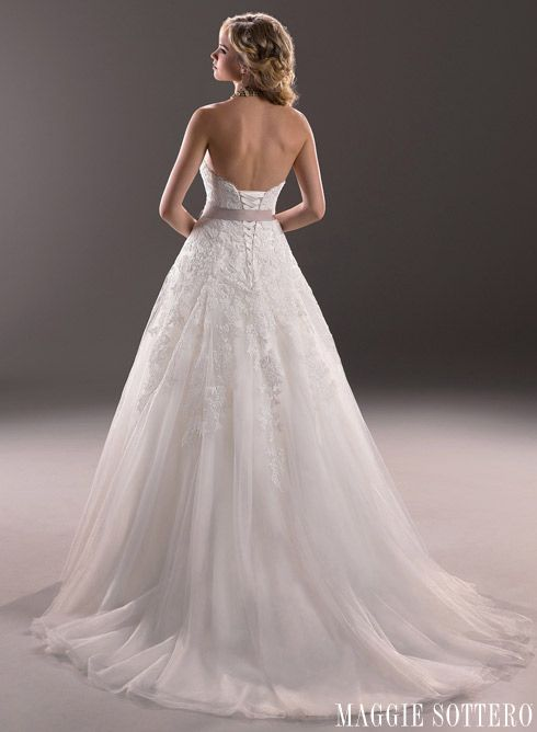 The back of Nadia by Maggie Sottero. One of my favorites