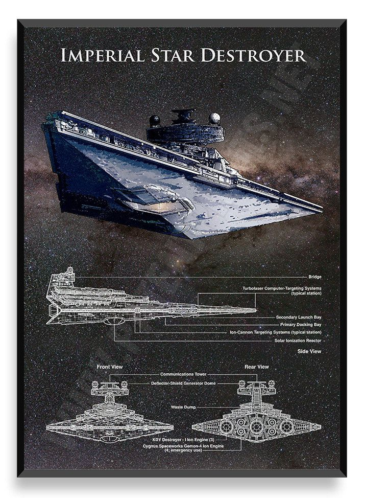 Destructor Estelar Imperial nave de Star Wars Star Wars
