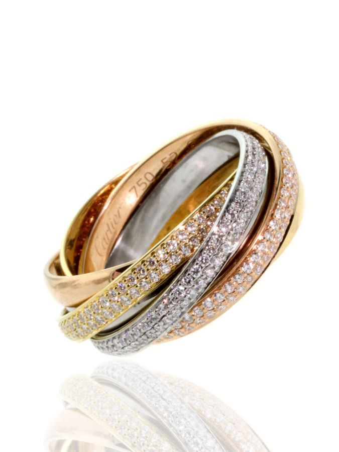 Cartier Diamond Tricolor Ring | Luxify | Luxury Within Reach